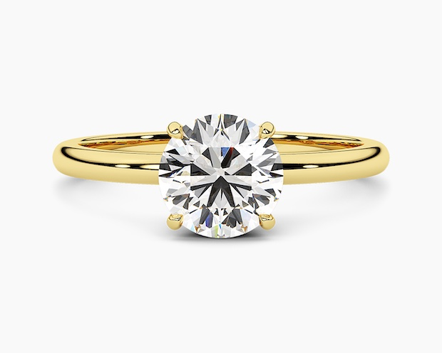Yellow Gold Solitaires