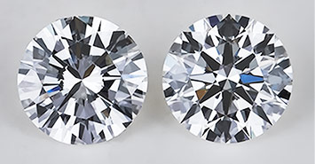A poor Cut vs. a Canera Ideal Cut Round Diamond