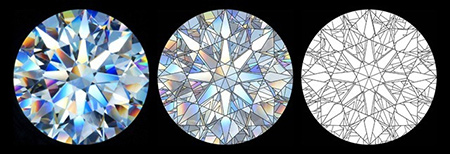 Virtual Facets in a Round Brilliant Diamond